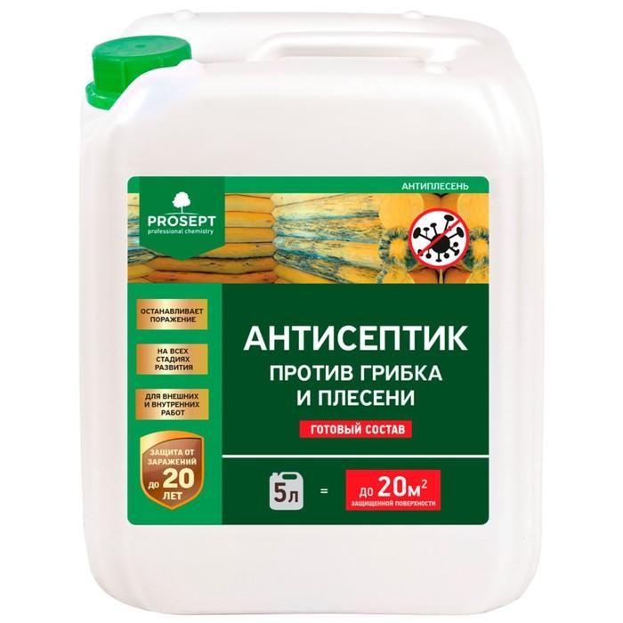 Антисептик универсальный против грибка и плесени, Prosept Антиплесень, готовый раствор, 5л