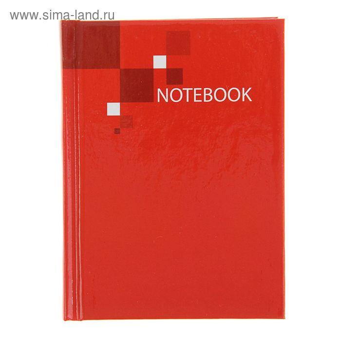 """Блокнот твердая обложка А7, 64 листа """"Красный"""""""