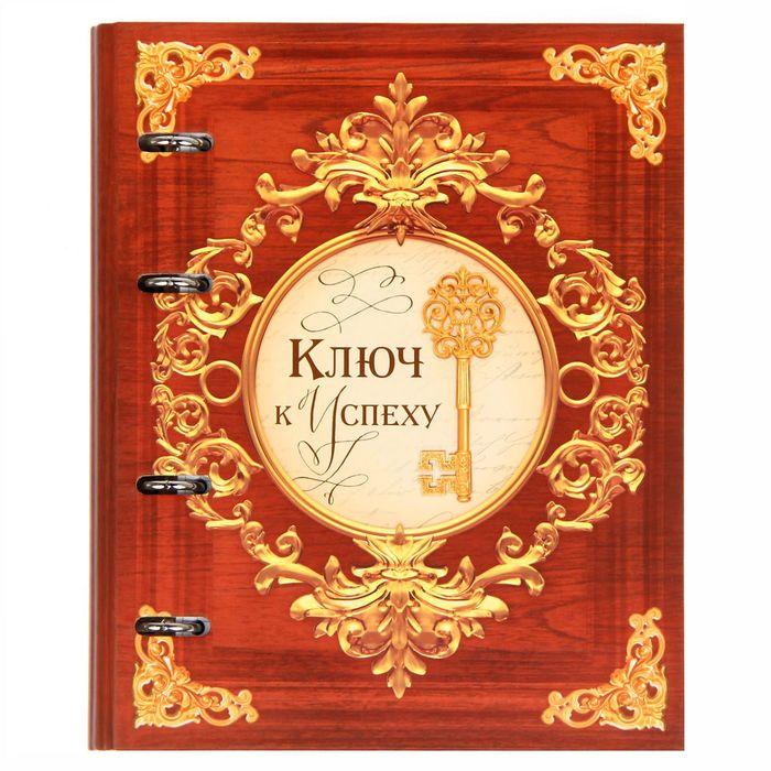 """Тетрадь на металлических кольцах """"Ключ к успеху"""", твёрдая обложка, 80 листов"""