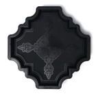 Форма для тротуарной плитки «Клевер краковский большой», 29 × 29 × 4 см, шагрень