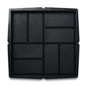 Форма для тротуарной плитки «Плита. 8 кирпичей», 40 × 40 × 5 см, Ф13004, 1 шт.