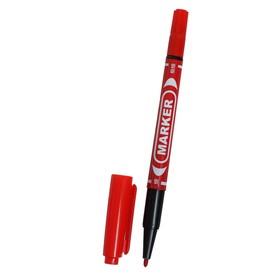 Маркер перманентный, двухсторонний, круглый, 2 мм/0.7 мм, красный, CALLIGRATA 1120 Ош