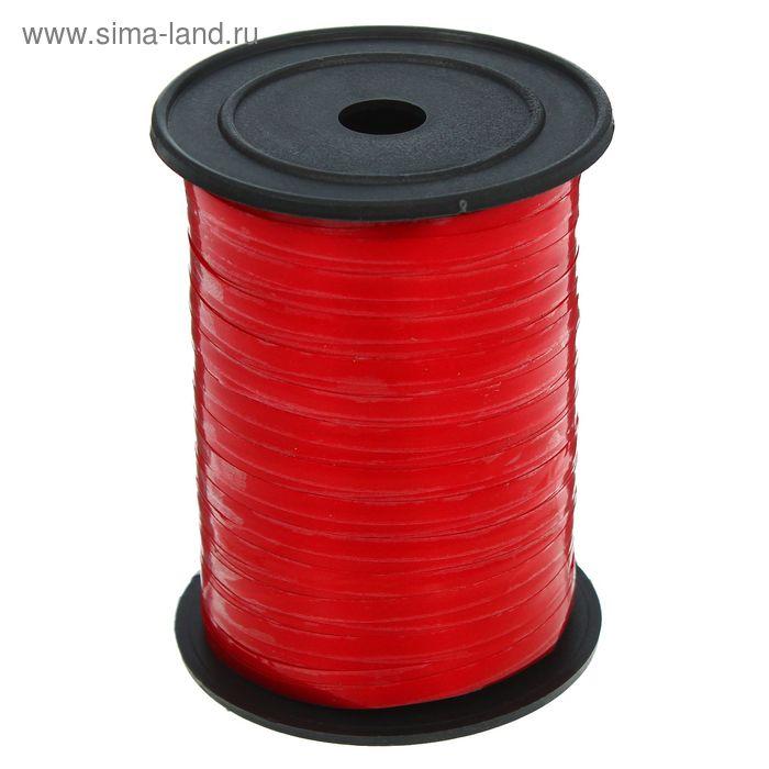 Лента глянец (0,5 см * 250 ярд) Красный