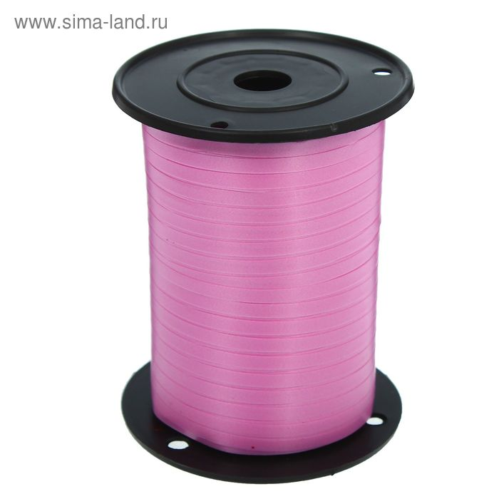 Лента декор (0,5 см * 500 м) Ярко-розовый