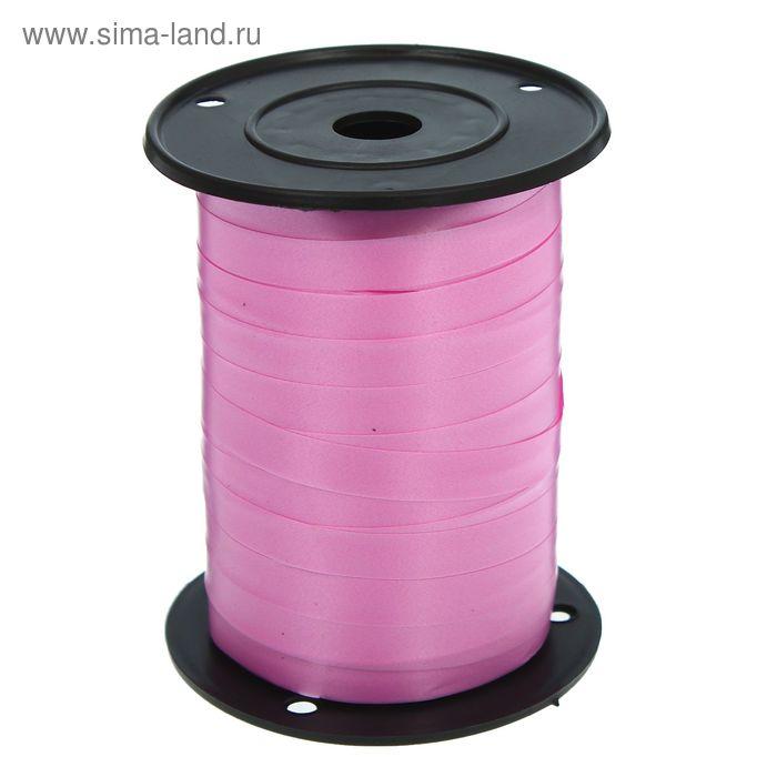 Лента декор (1 см * 250 м) Ярко-розовый