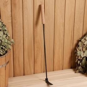 Кочерга металлическая с деревянной ручкой, длина 60 см Ош