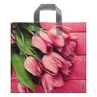 """Пакет """"Букет тюльпанов"""", полиэтиленовый с петлевой ручкой, 38х35 см, 85 мкм - фото 147538339"""