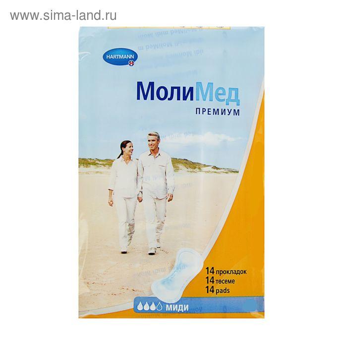 Прокладки урологические Molimed Premium midi для женщин, 14 шт
