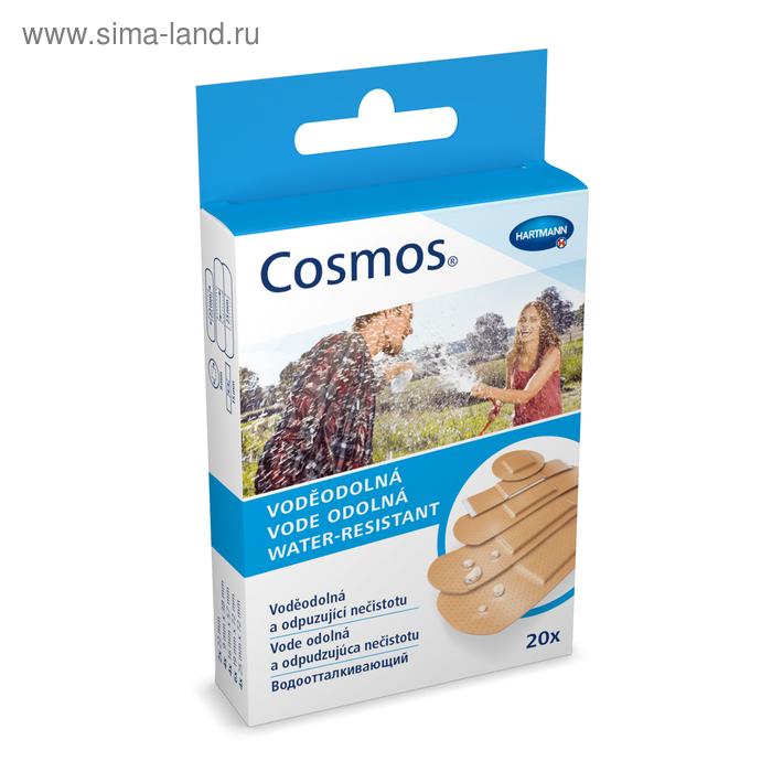 Пластырь Cosmos Water-Resistant водостойкий 5 размеров, 20 шт