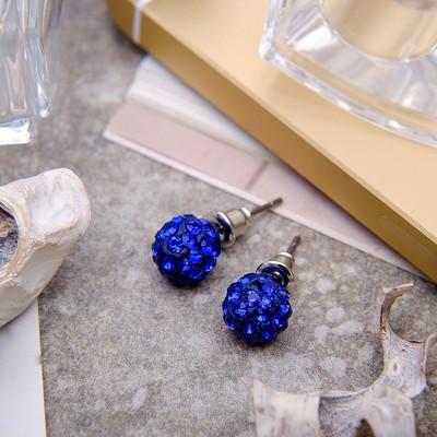 "Pusey ""Ball"" Shambala, blue color, d=0.8 cm"