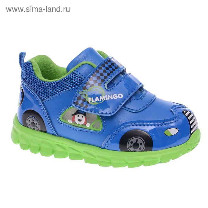 Кроссовки детские, размер 21, цвет синий/зеленый (арт. 61-NK105)