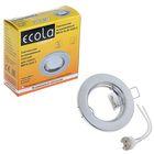 Светильник встраиваемый Ecola DL90, GU5.3, MR16, плоский, 30 x 80 мм, цвет хром