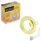Светильник встраиваемый Ecola DL92, GU5.3, MR16, выпуклый, 30 x 80 мм, цвет золото