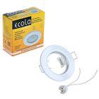 Светильник встраиваемый Ecola DL90, GU5.3, MR16, плоский, 30 x 80 мм, белый