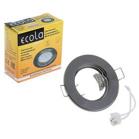 Светильник встраиваемый Ecola DL90, GU5.3, MR16, плоский, 30 x 80 мм, цвет черный хром Ош