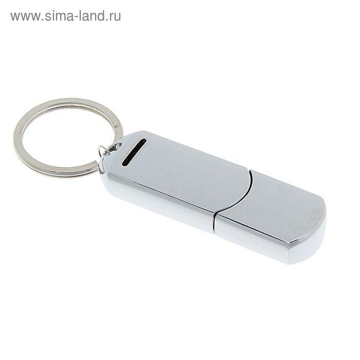 Флешка USB 8Gb, под УФ-печать/лазерную гравировку/тампопечать, серебристая