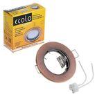 Светильник встраиваемый Ecola DL90, GU5.3, MR16, плоский, 30x80 мм, цвет чёрная медь