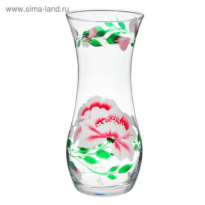 """Ваза """"Нежность"""" бело-розовый цветок"""