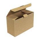 Коробка крафт из рифлёного картона, 17,5 х 7,5 х 11,5 см