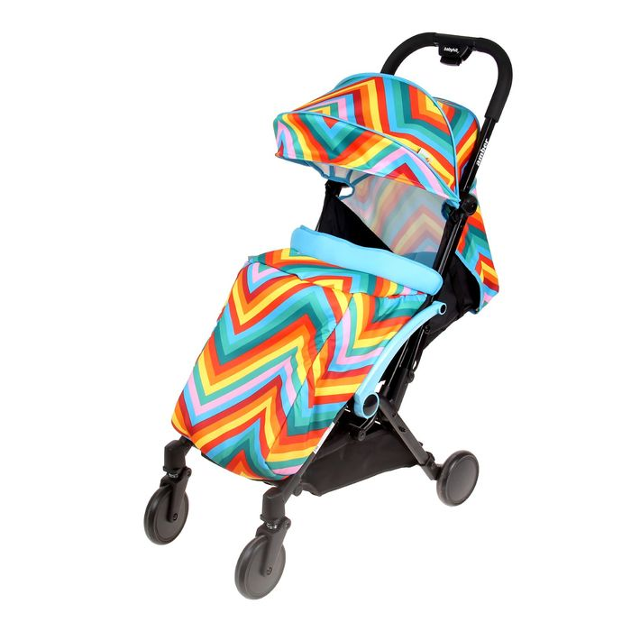 Прогулочная коляска Amber, цвет голубой зигзаг