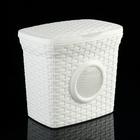 Контейнер для стирального порошка «Ротанг», 10 л, с иллюминатором, цвет белый