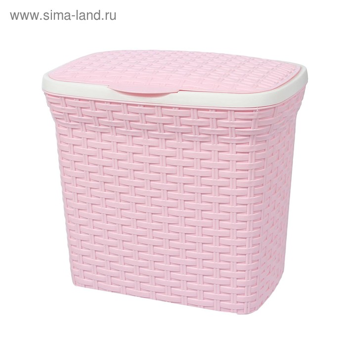 """Контейнер для стирального порошка 10 л """"Ротанг"""", цвет розовый"""