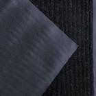 Коврик придверный влаговпитывающий, ребристый, «Стандарт», 90×120 см, цвет чёрный - фото 4657508