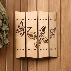 Абажур деревянный 'Бабочки' Ош