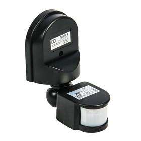 Датчик движения LLT ДД-008-В, инфракрасный, 1200 Вт, 12 м, IP44, чёрный