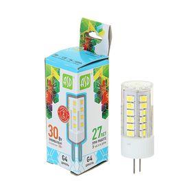 Лампа светодиодная ASD, G4, 3 Вт, 12 В, 4000 К, 270 Лм
