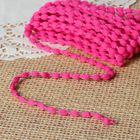 Шнур для плетения декоративный, d=5мм, 5±1м, цвет №121 тёмно-розовый