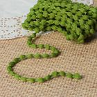 Шнур для плетения декоративный, d=5мм, 5±1м, цвет №140 зелёный