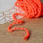 Шнур для плетения декоративный, d=5мм, 5±1м, цвет №102 неоново-оранжевый