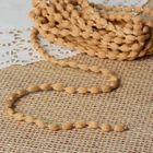 Шнур для плетения декоративный, d=5мм, 5±1м, цвет №110 бежевый