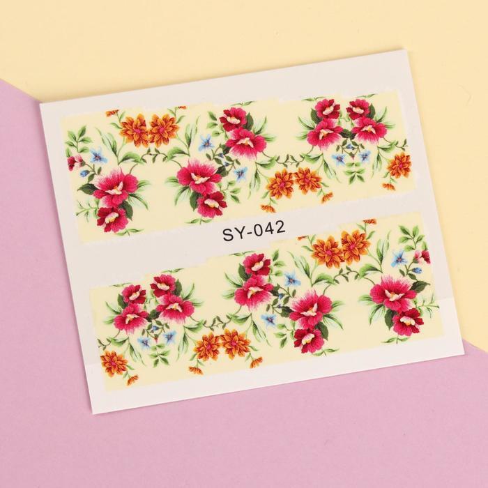"""Слайдер-дизайн для ногтей """"Цветочный сад"""", разноцветный"""
