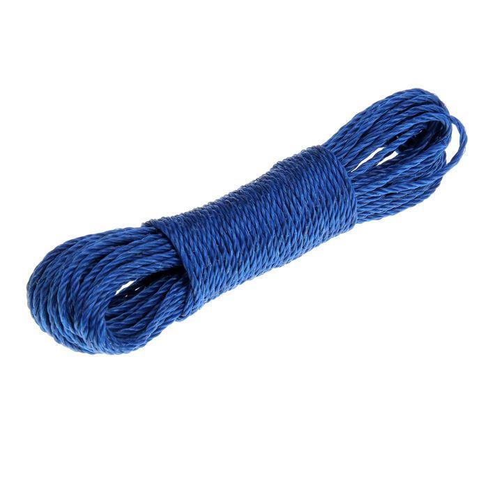 Верёвка бельевая, d=3 мм, длина 20 м, цвет МИКС - фото 4635760