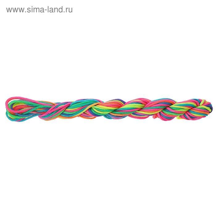 Нить для плетения, d=2мм, 10±1м, цвет МИКС