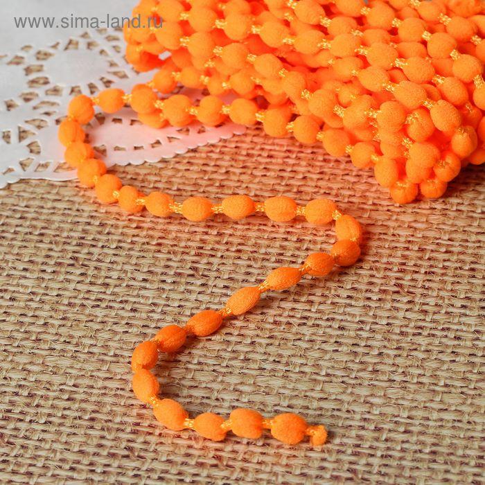 Шнур для плетения декоративный, d=5мм, 5±1м, цвет №113 оранжевый