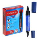 Permanent marker double-sided round (5 mm/3 mm) blue CALLIGRATA 1150