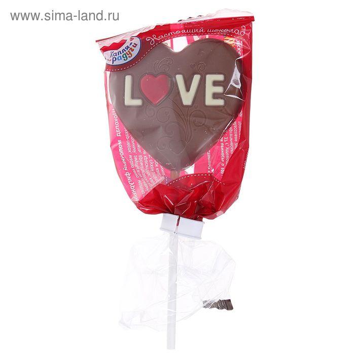 "Шоколад ""Капля Радуги"", молочный, сердце на палочке, 24 г"
