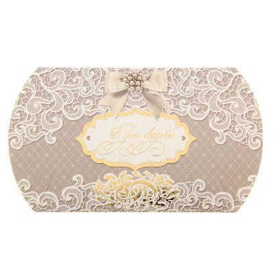 Бонбоньерка свадебная «Кружево», 10 × 7,5 см