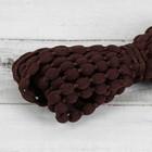 Шнур для плетения декоративный, d=5мм, 5±1м, цвет №133 тёмно-коричневый