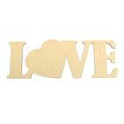 """Декоративное слово """"Love"""" с сердцем"""
