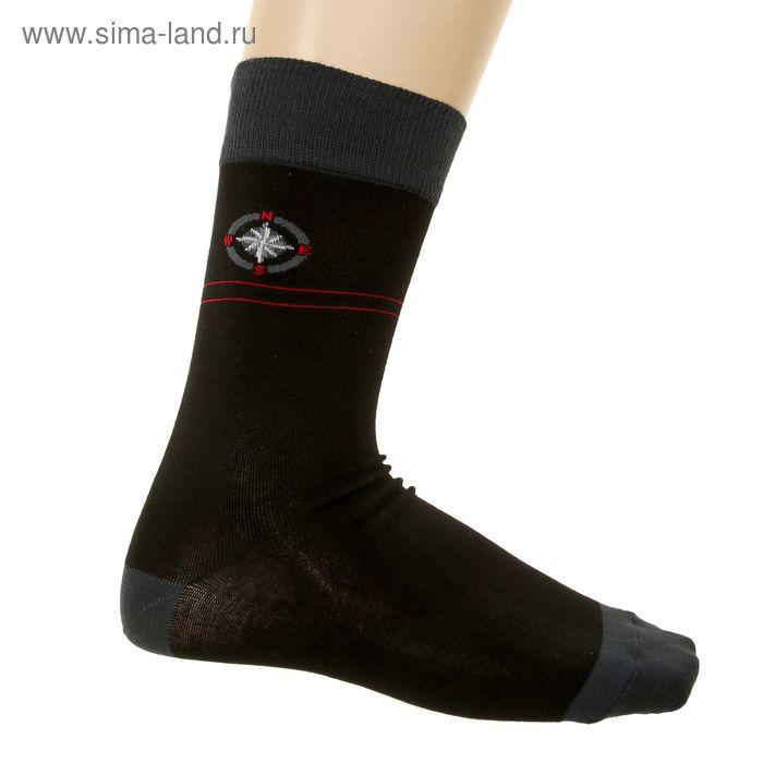 Носки мужские арт.216, цвет черный, р-р 25-27 (разм.обуви 40-42)