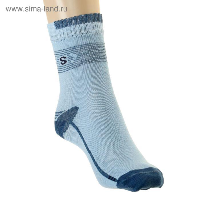 Носки детские арт.4В456, цвет голубой, р-р 20-22 (разм.обуви 32-34)