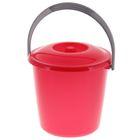 Ведро с крышкой «Соло», 7 л, цвет красный перламутр