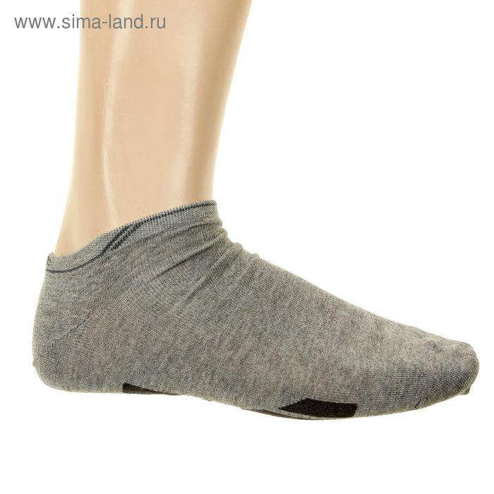 Носки мужские арт.12В232, цвет серый, р-р 27-29 (разм.обуви 42-44)