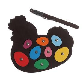 Игра с магнитами «Курочка-Несушка» цвет МИКС