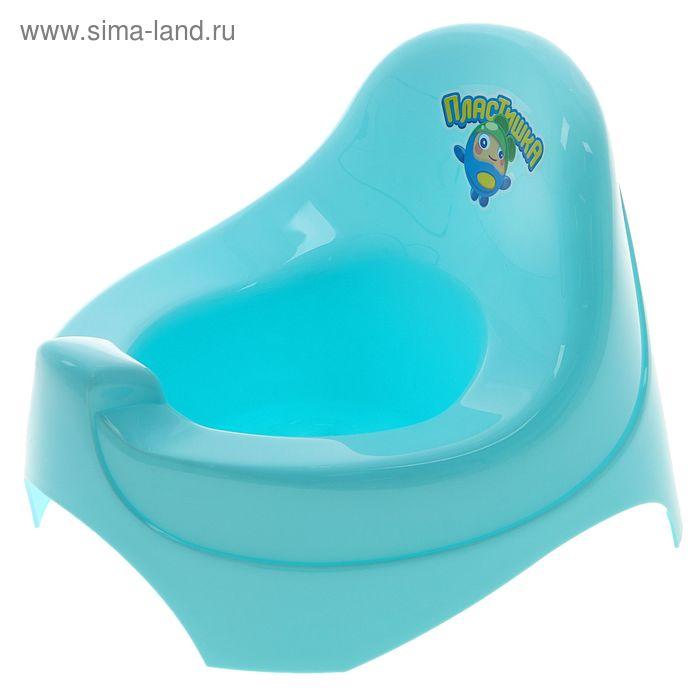 Горшок детский, цвет голубой
