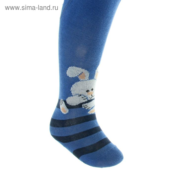 Колготки детские арт.4В439, цвет джинс, рост 62-68 см (3-6 мес)